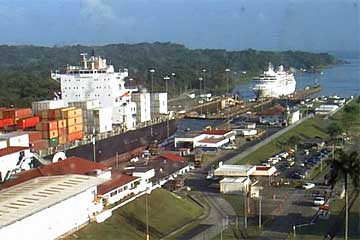 The Balmoral Cruise Ship approaching the Gatun Locks on January 22 2010