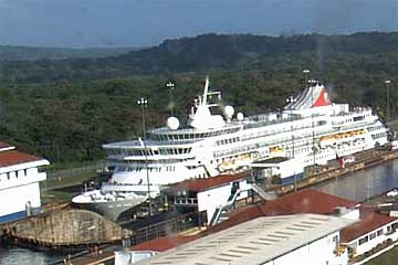 The Balmoral Cruise Ship in the Gatun Locks - Panama Canal