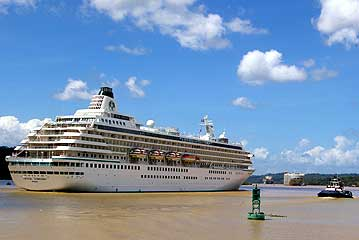The Crystal Symphony near Gamboa in the Panama Canal