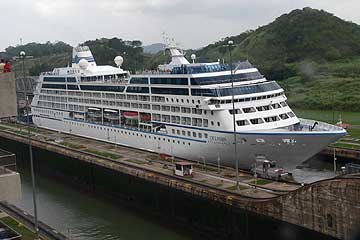 The Delphin Renaissance Cruise Ship in the Panama Canal