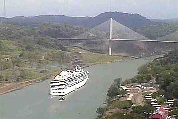 Panama Canal Live Cam View of the Centennial Bridge