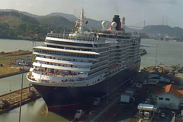 The Queen Victoria Cruise Ship in the Panama Canal January 20, 2010