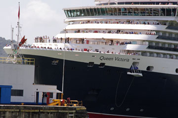 The Queen Victoria Cruise Ship entering the Pedro Miguel Locks - Panama Canal