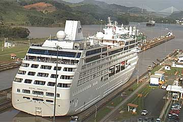 The Royal Princess Cruise Ship in the Panama Canal