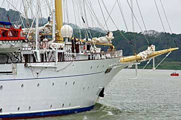 The Star Flyer Sailing Ship North on her North bound Panama Canal