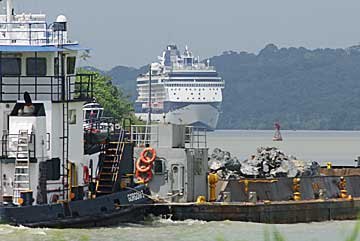 The Celebrity Cruise Constellation near Gamboa in the Panama Canal