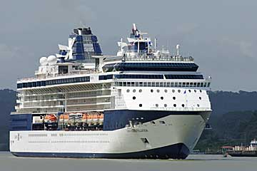 The Celebrity Constellation in the Panama Canal, Nov. 27 2009