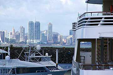 View to Panama City from the Flamenco Yacht Club